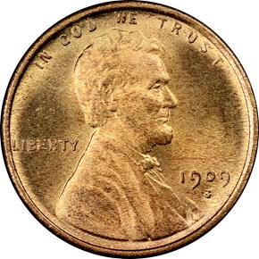 1909 S LINCOLN 1C MS obverse