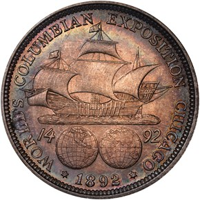 1892 COLUMBIAN 50C MS reverse