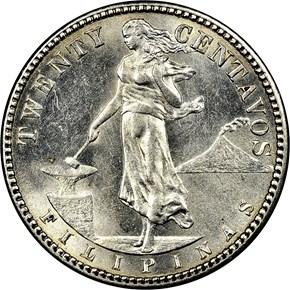 1912 S USA-PHIL 20C MS obverse