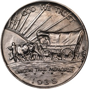 1938 S OREGON TRAIL 50C MS reverse