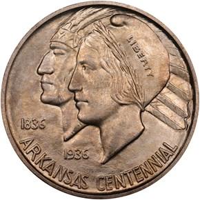 1935 D ARKANSAS 50C MS obverse