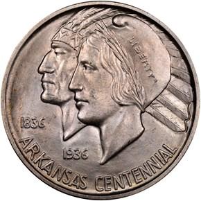 1937 D ARKANSAS 50C MS obverse