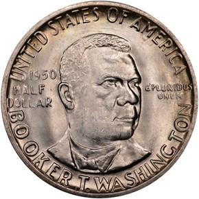 1950 BOOKER T. WASHINGTON 50C MS obverse