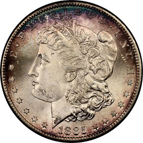 1885 S S$1 MS obverse