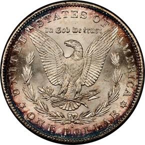 1885 S S$1 MS reverse