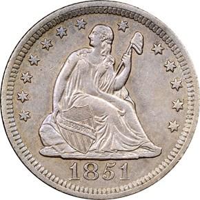 1851 O 25C MS obverse