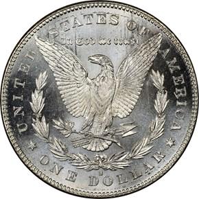 1878 S S$1 MS reverse
