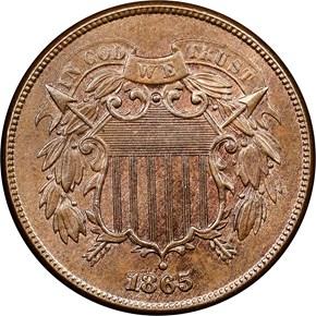 1865 2C MS obverse