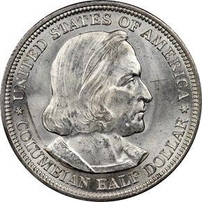 1893 COLUMBIAN 50C MS obverse