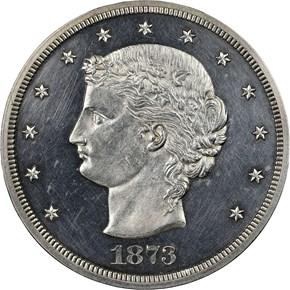 1873 J-1281 T$1 PF obverse