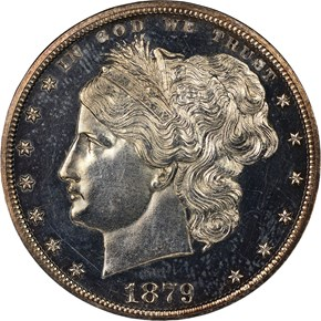 1879 J-1603 S$1 PF obverse