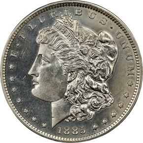1885 J-1747 S$1 PF obverse