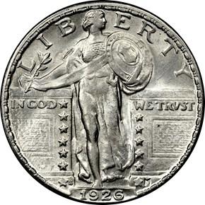1926 S 25C MS obverse
