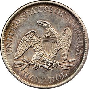 1861 O 50C MS reverse