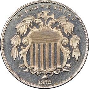 1872 5C PF obverse