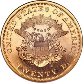 1865 $20 PF reverse