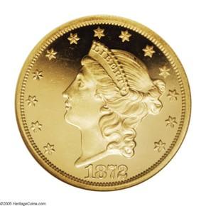 1872 $20 PF obverse