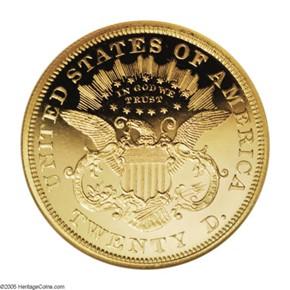 1872 $20 PF reverse