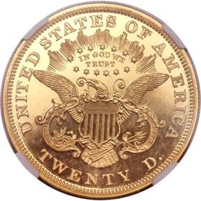 1874 $20 PF reverse