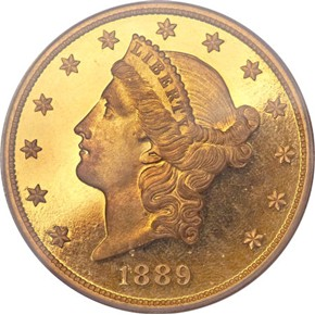 1889 $20 PF obverse