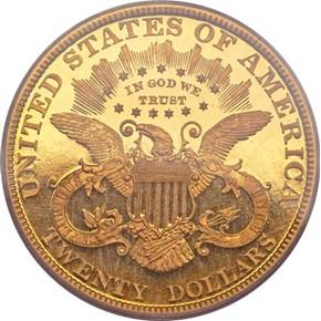 1889 $20 PF reverse