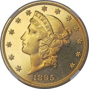 1895 $20 PF obverse
