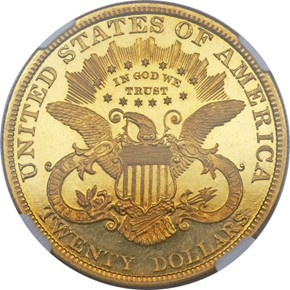 1895 $20 PF reverse