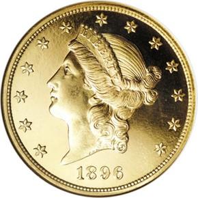 1896 $20 PF obverse