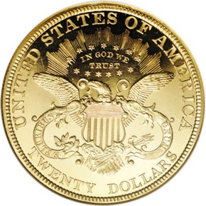 1896 $20 PF reverse
