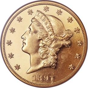 1897 $20 PF obverse