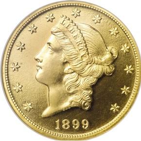 1899 $20 PF obverse