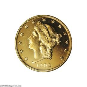 1902 $20 PF obverse