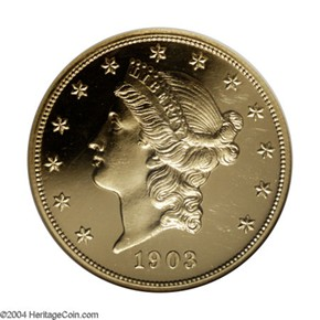 1903 $20 PF obverse