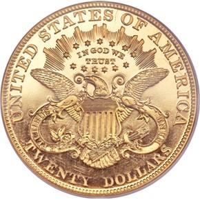 1905 $20 PF reverse