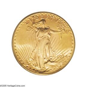 1924 D $20 MS obverse