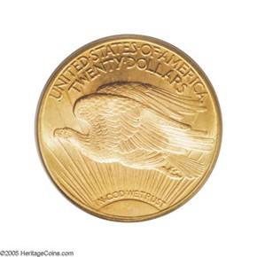 1924 D $20 MS reverse