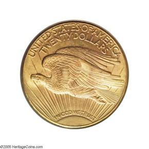 1925 D $20 MS reverse