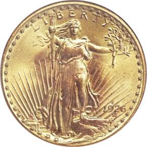 1926 S $20 MS obverse