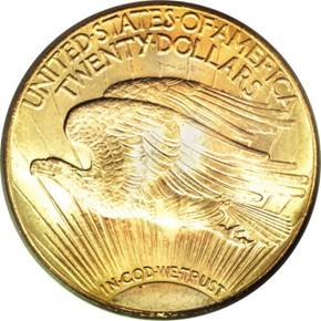 1929 $20 MS reverse
