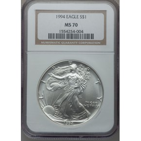 1994 EAGLE S$1 MS obverse