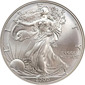 2000 EAGLE S$1 MS obverse