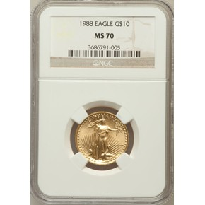 1988 EAGLE G$10 MS obverse