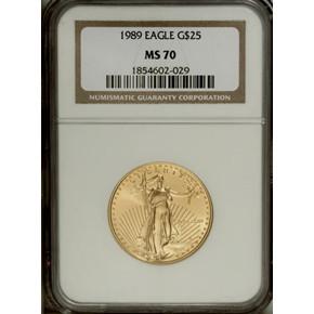 1989 EAGLE G$25 MS obverse