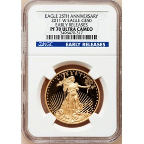 2011 W EAGLE G$50 PF obverse