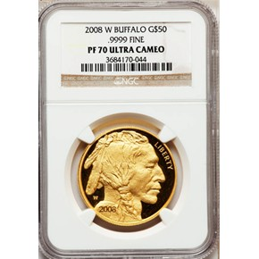 2007 W BUFFALO .9999 FINE G$50 PF obverse