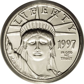1997 EAGLE P$10 MS obverse