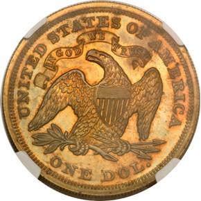 1867 J-593 S$1 PF reverse