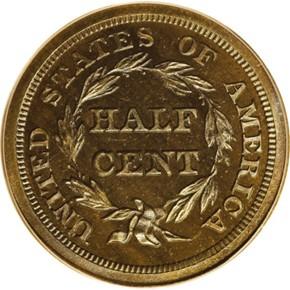 1840 RESTRIKE 1/2C PF reverse