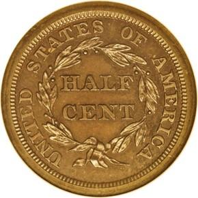 1844 ORIGINAL 1/2C PF reverse