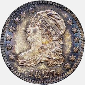 1827 10C MS obverse